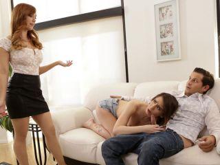 Dani Jensen Family Threesome